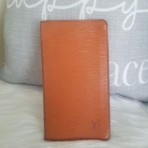 Authentic Louis Vuitton Epi long card wallet